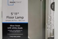 Mainstays 511 Floor Lamp Silver Tone Finish New pertaining to size 3024 X 4032