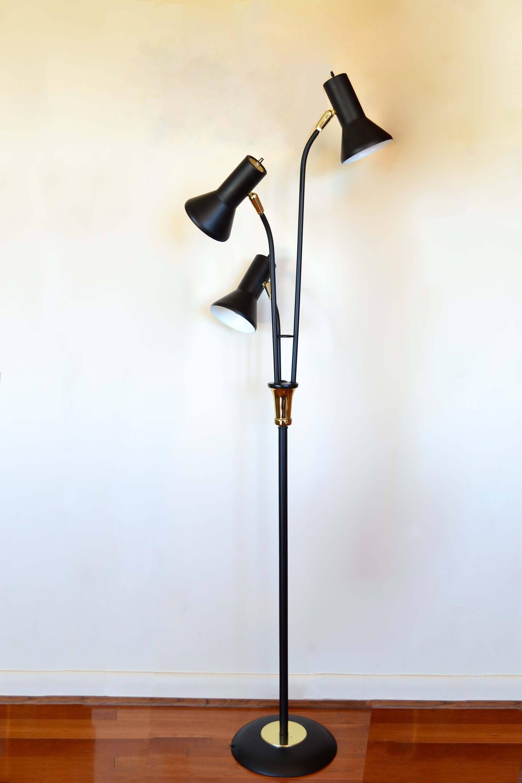 Mid Century Modern Floor Lamp Bullet Cone Reading Light regarding dimensions 2000 X 3000