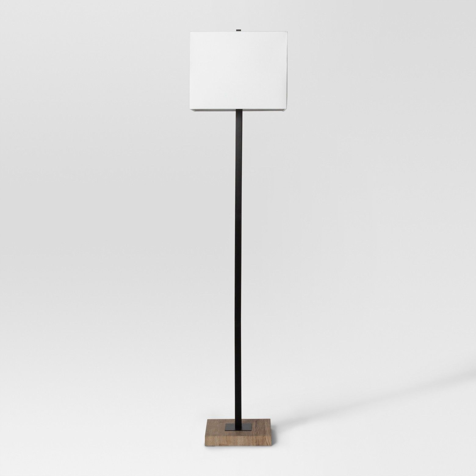 Modern Wood Square Floor Lamp Black Lamp Only Project 62 within measurements 1560 X 1560