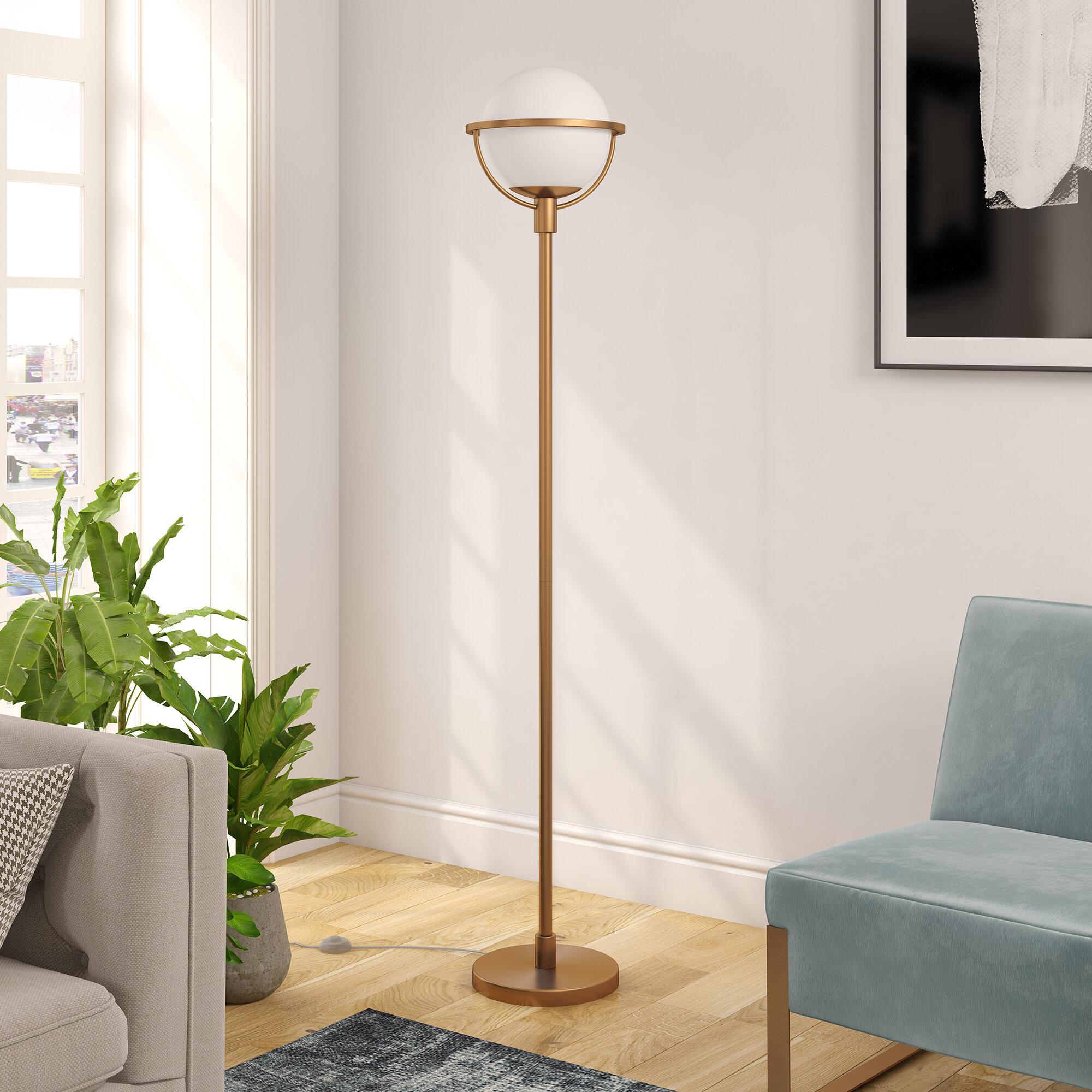 Pascale 69 Torchiere Floor Lamp throughout measurements 2000 X 2000