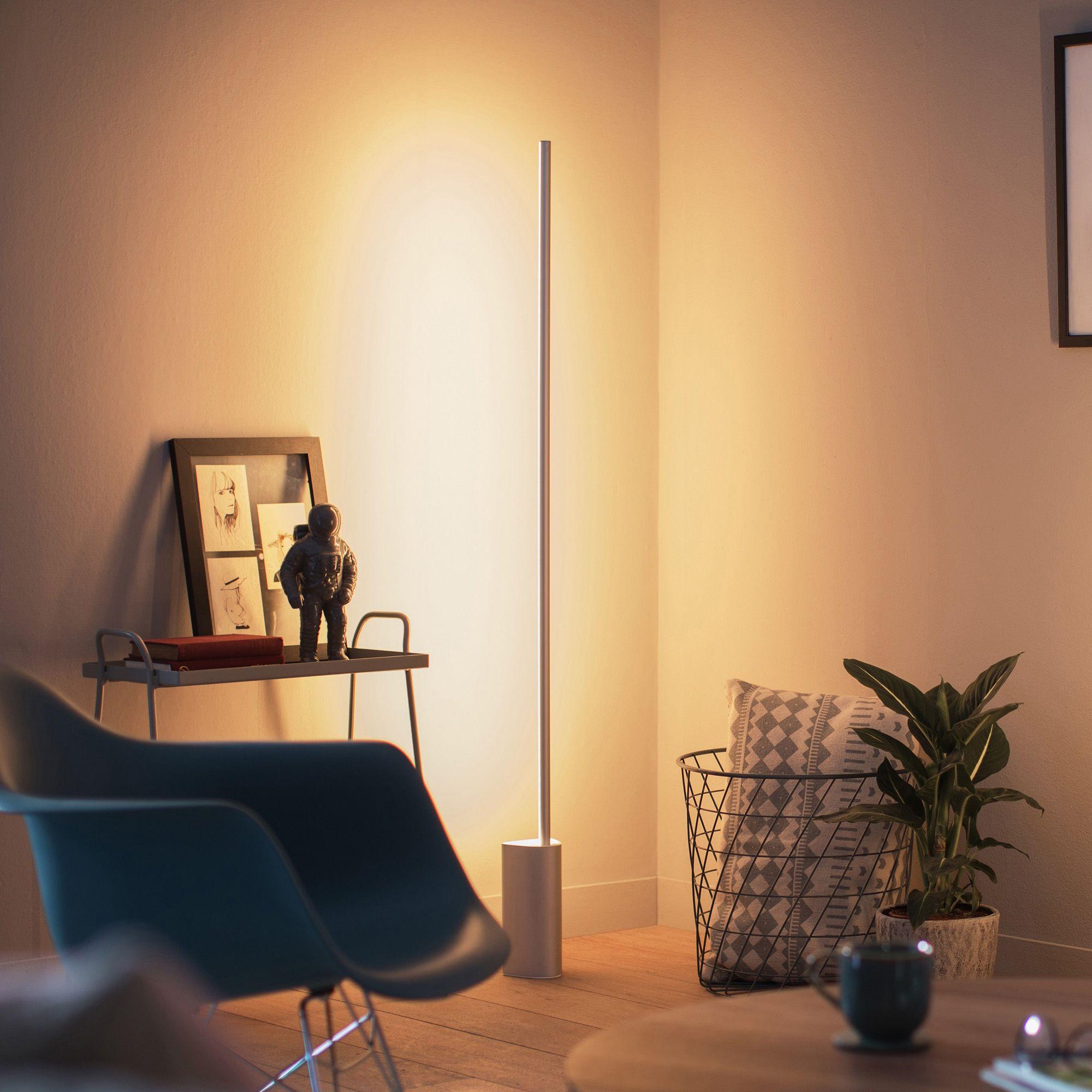 Philips Hue Signe Floor Lamp Aluminium • Cabinet Ideas