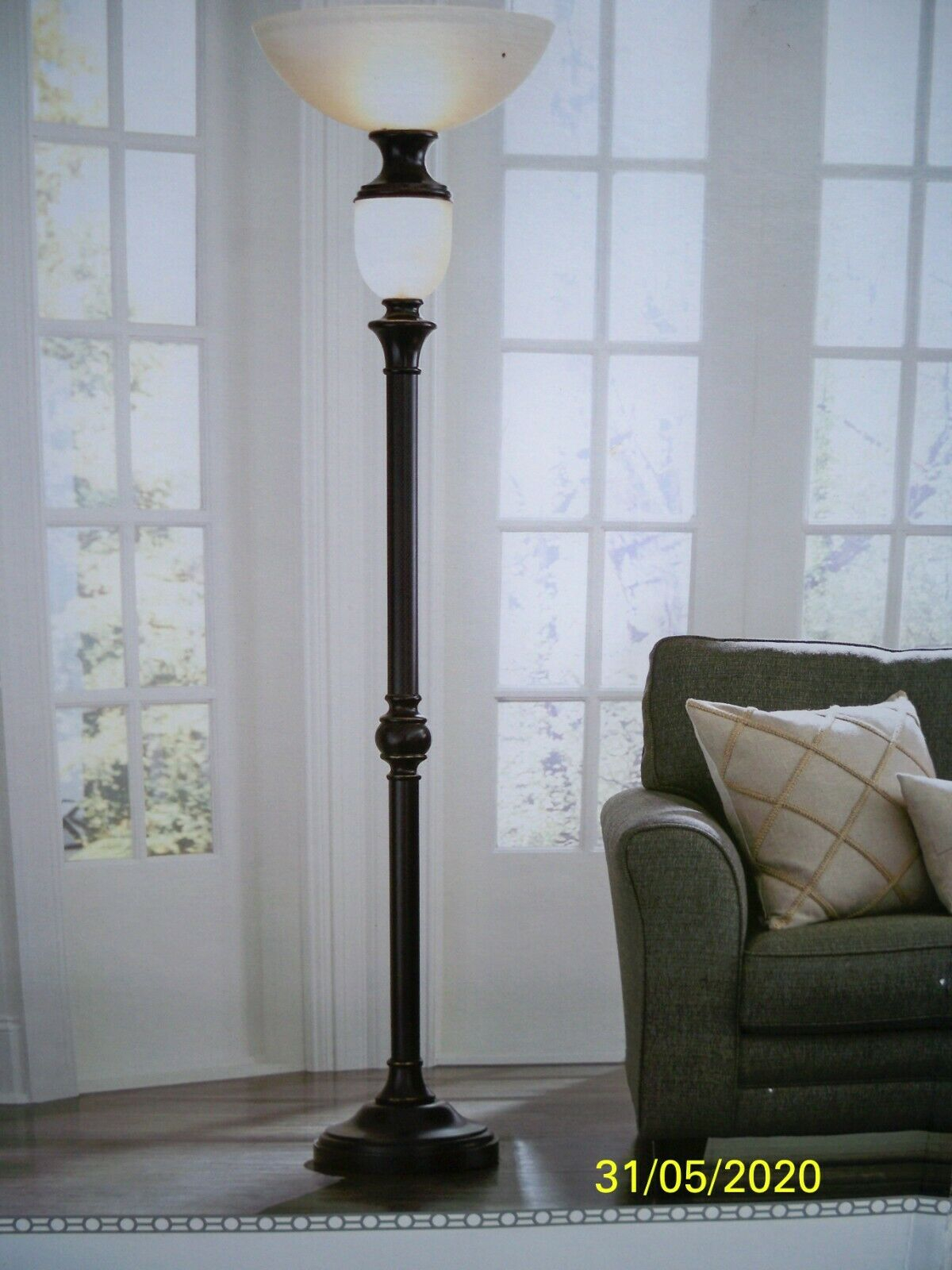 Portfolio 74 In Oil Rubbed Bronze 4 Way Torchiere With Night Light Floor Lamp pertaining to size 1200 X 1600