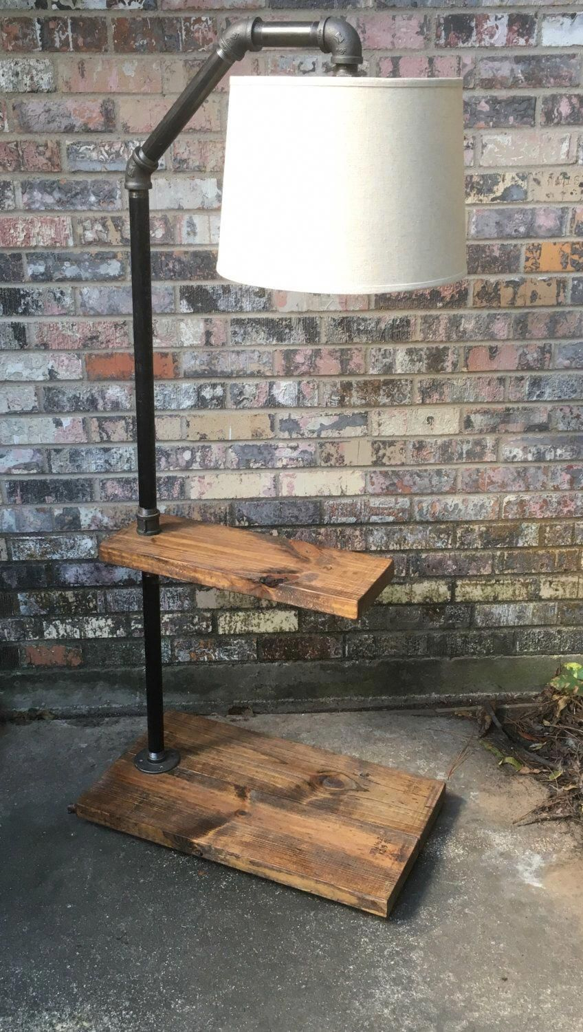 Rustic Floor Lamp Industrial Floor Lamp Farmhouse End with regard to proportions 848 X 1500
