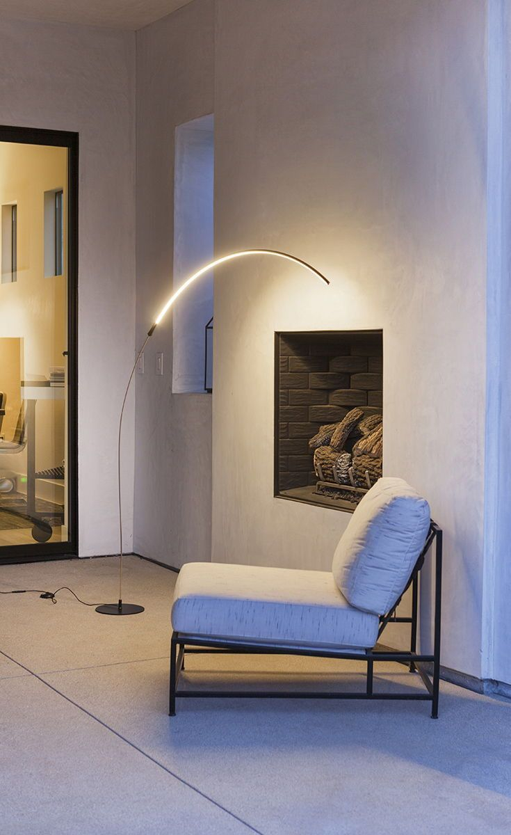 Sparq Arc Led Floor Lamp Over The Sofa Living Room Light throughout dimensions 735 X 1200