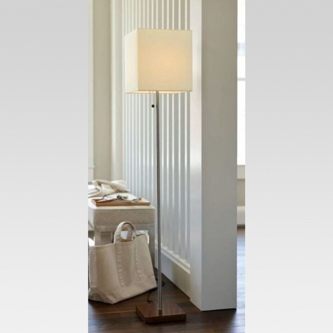 Square Stick Floor Lamp Silver Lamp Only Threshold intended for sizing 1400 X 1400