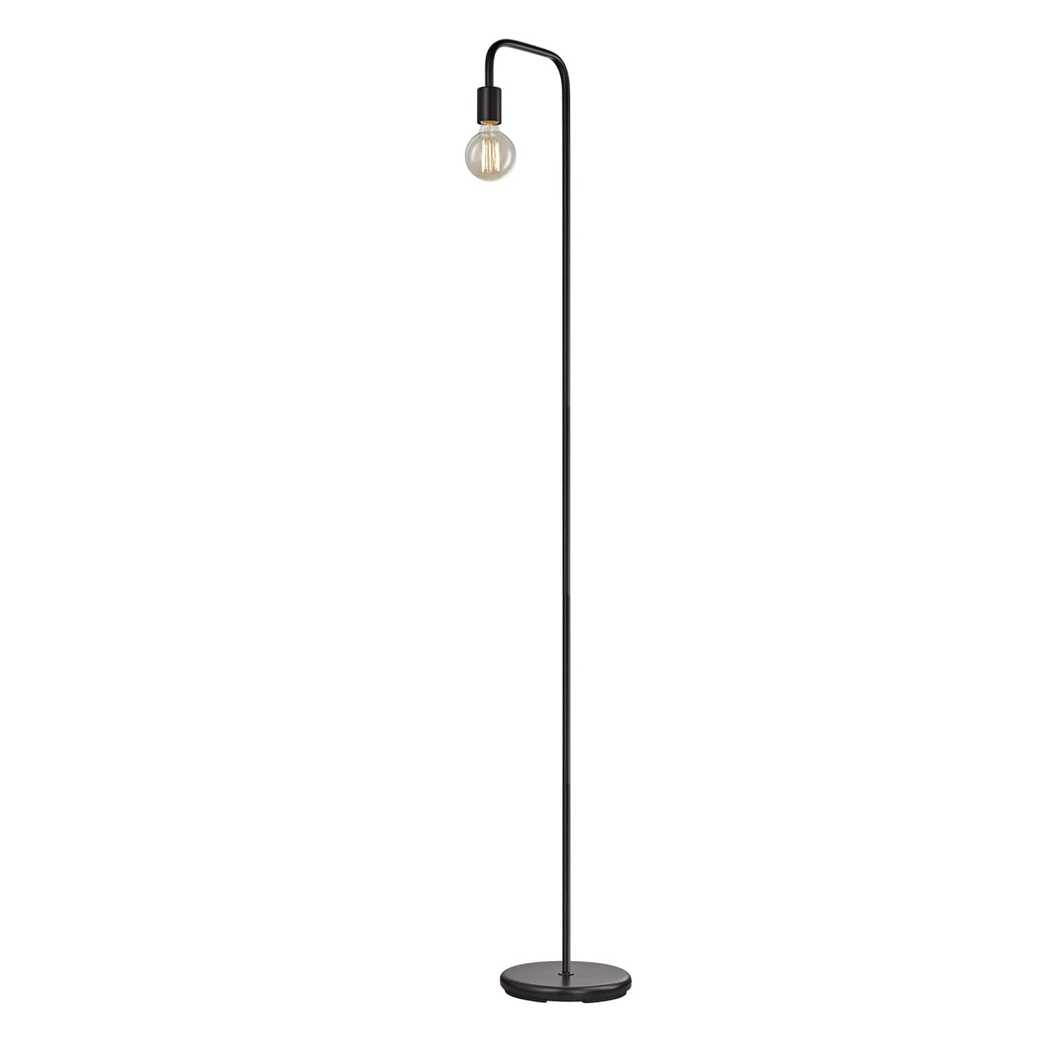 Strick Bolton Aldo 70 Inch Black Floor Lamp Globe Metal throughout size 1500 X 1500