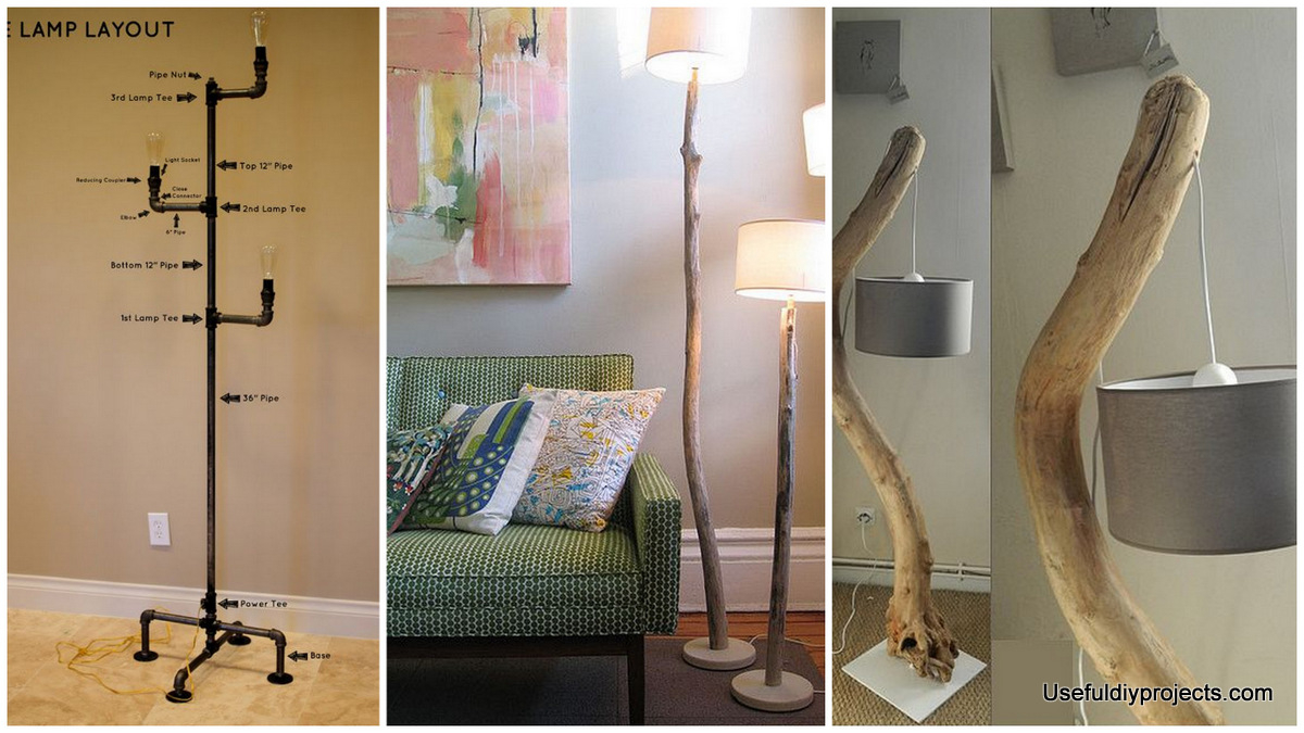 Stunning 15 Diy Floor Lamps To Complete A Room Useful Diy with regard to dimensions 1200 X 675