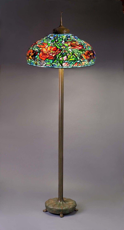 Tiffany Studios 1902 1938 Elaborate Peony Floor Lamp within size 800 X 1483