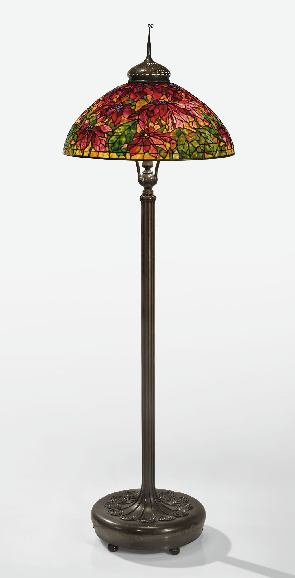 Tiffany Studios A Rare Poinsettia Floor Lamp With A in measurements 1023 X 2000