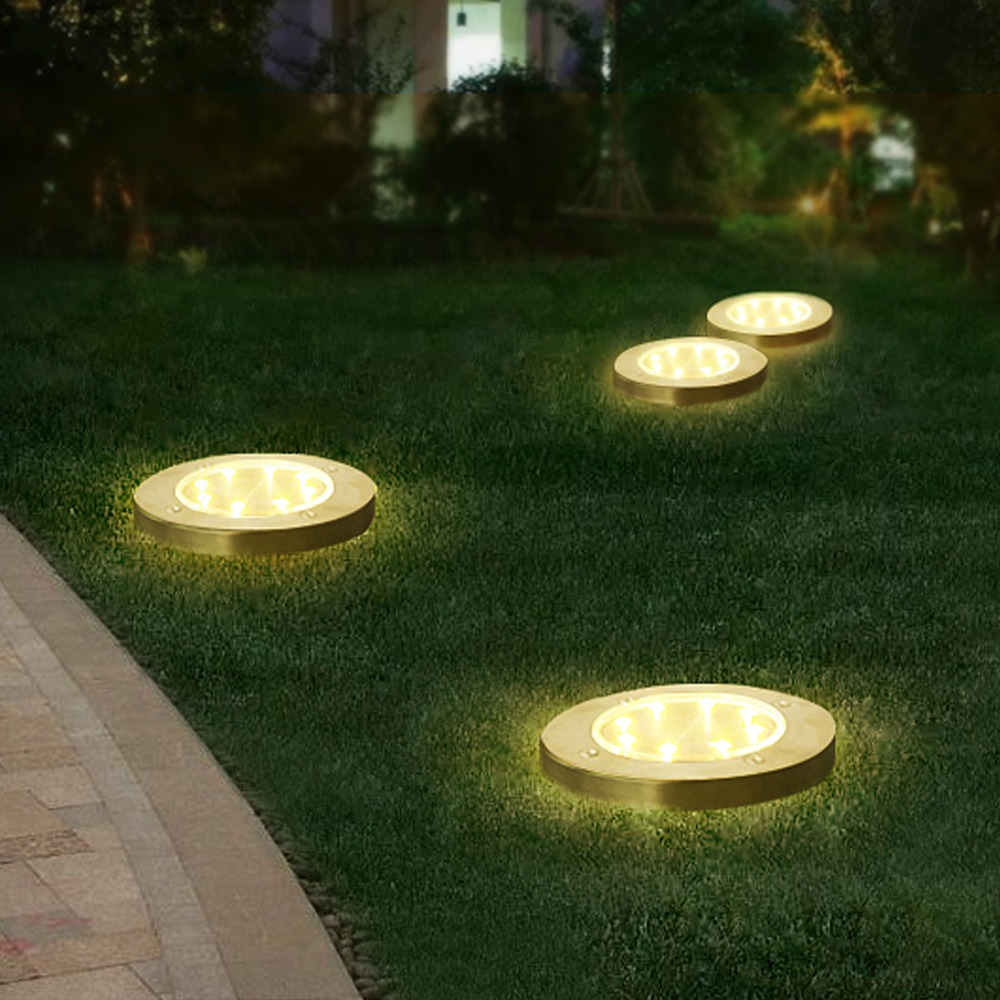 Us 695 35 Offsolar Rechargeable Outdoor Garden Landscape Lighting 8 Led Solar Underground Lamp Path Decoration Solar Floor Light Waterproof In within sizing 1000 X 1000