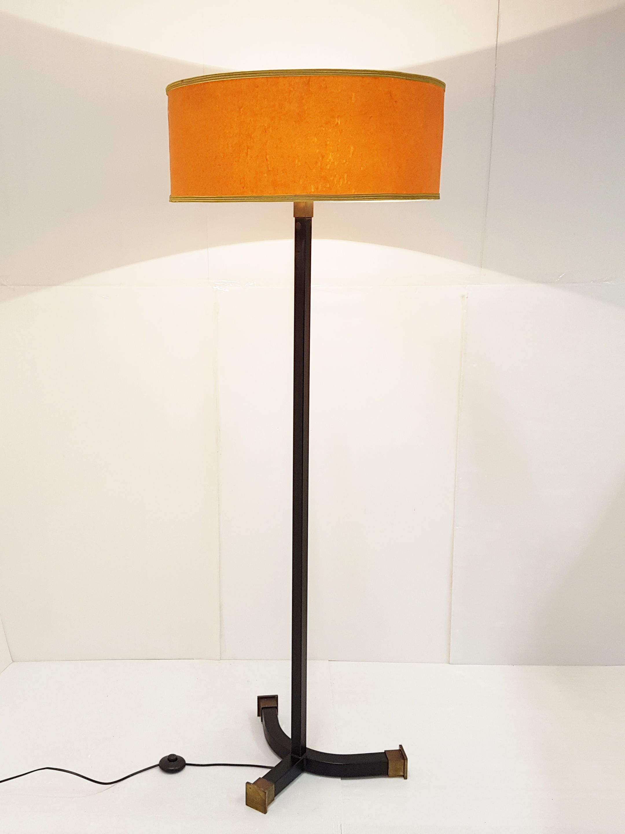 Vintage French Floor Lamp With Orange Shade 1960 throughout sizing 2160 X 2880