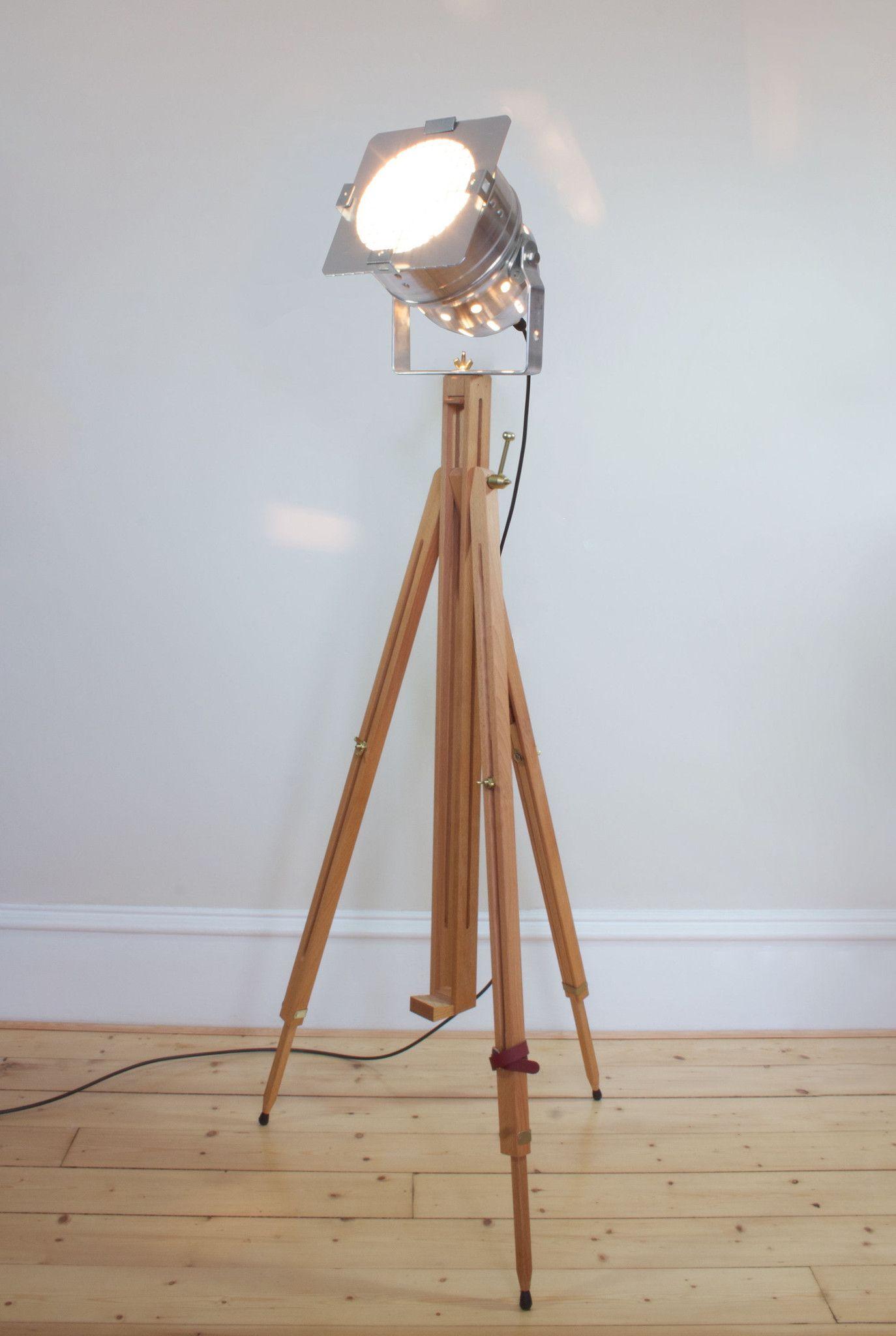 Vintage Retro Theatre Spot Light Tripod Floor Lamp