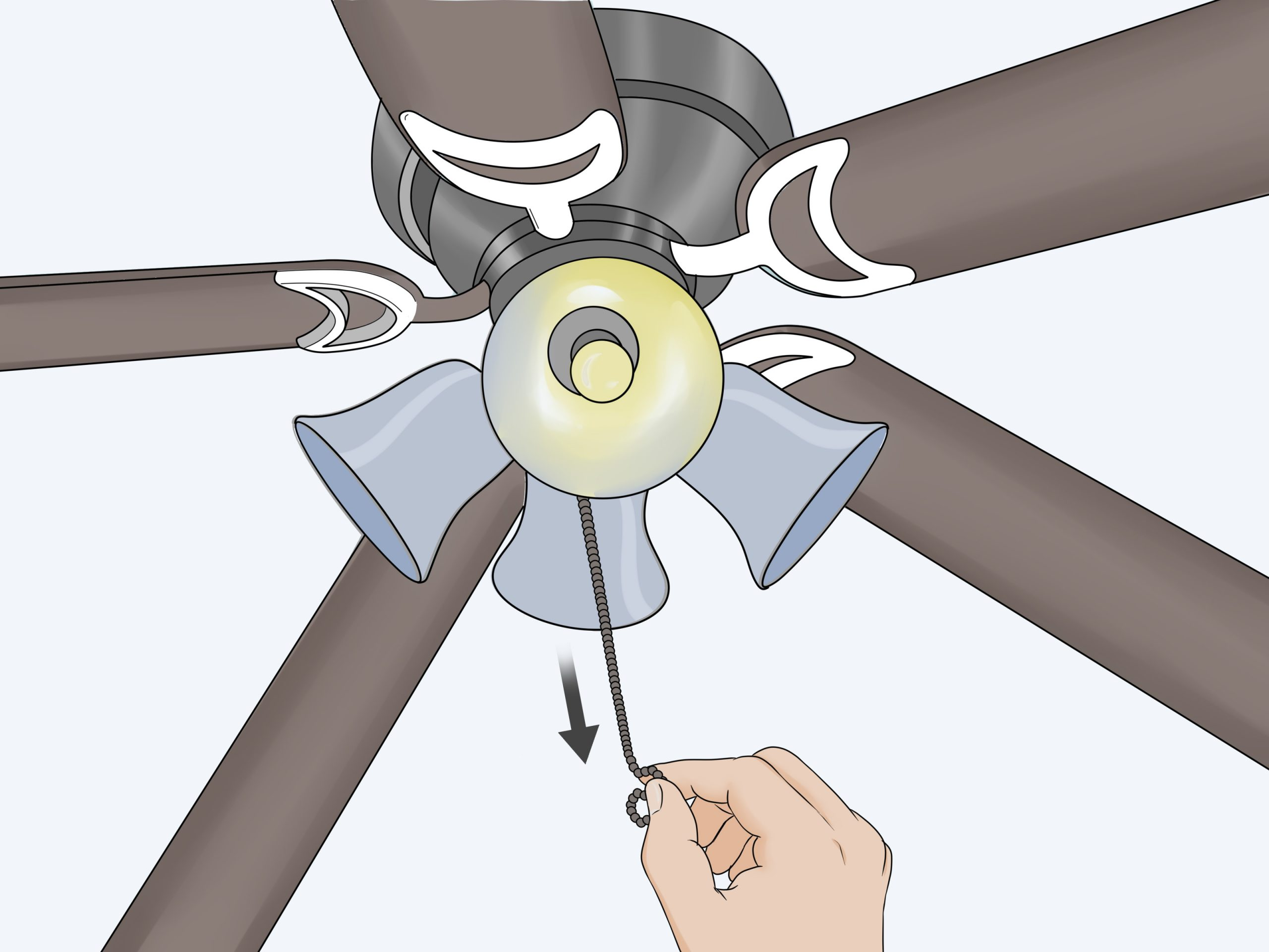 4 Ways To Replace A Ceiling Fan Pull Chain Switch Wikihow intended for measurements 3200 X 2400
