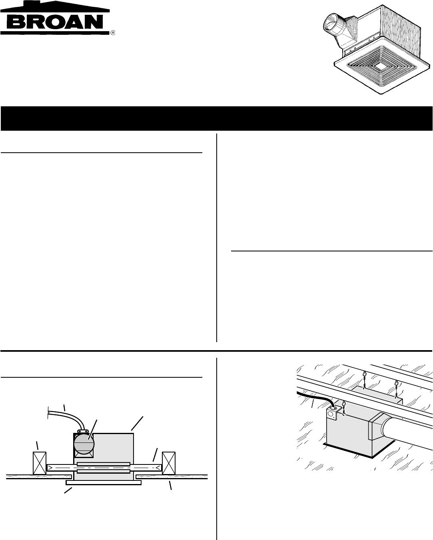 Broan Fan S80u User Guide Manualsonline in measurements 1083 X 1351