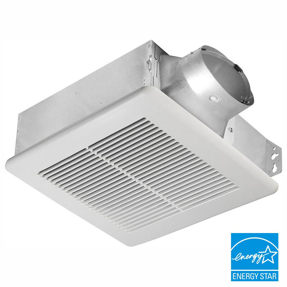 Delta Breez Slim Series 80 Cfm Ceiling Or Wall Bathroom Exhaust Fan Energy Star pertaining to dimensions 1000 X 1000