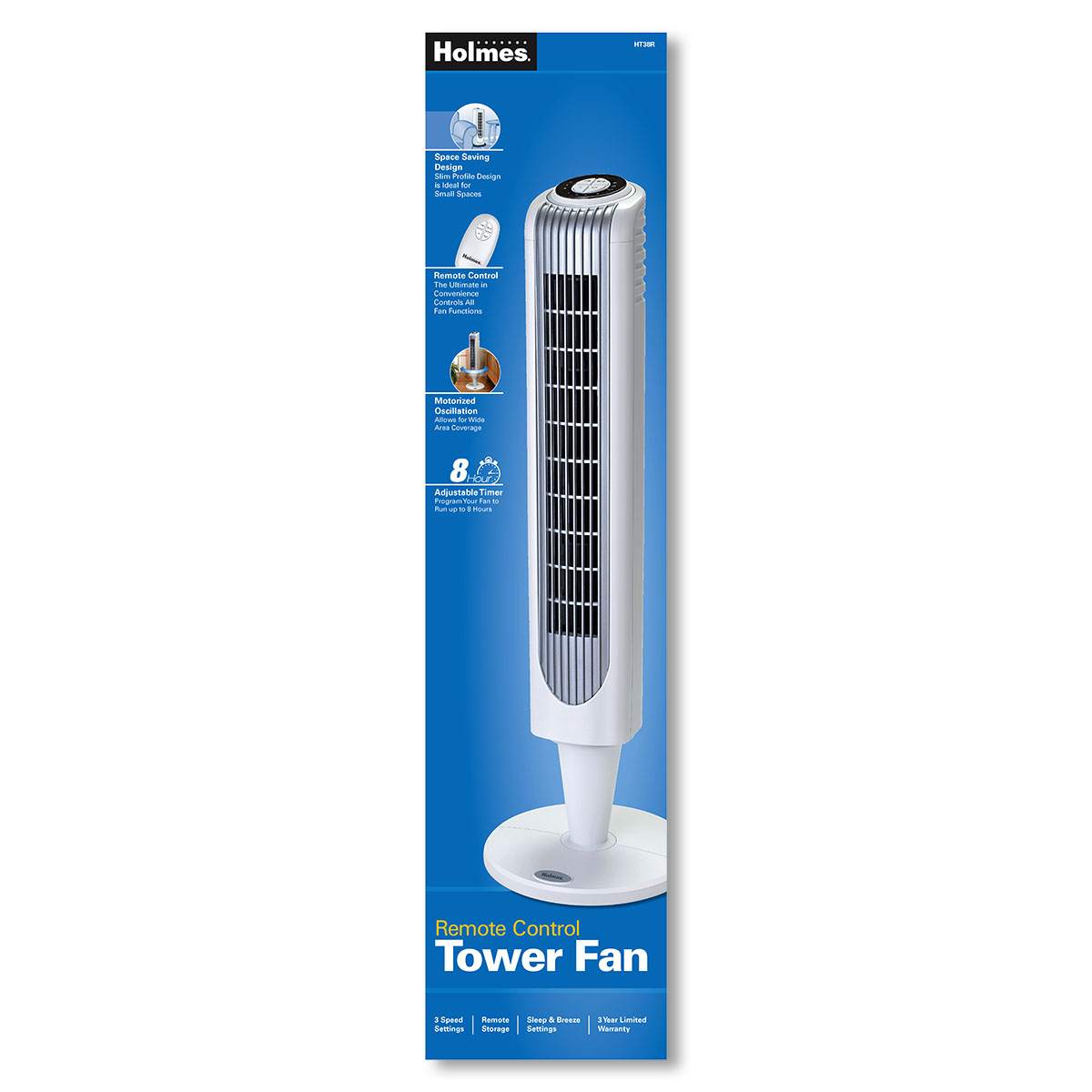 Holmes 32 Inch Remote Control Tower Fan in size 1200 X 1200
