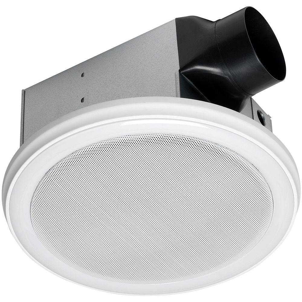 Home Netwerks Decorative White 110 Cfm Ceiling Mount Bluetooth Stereo Speakers Bathroom Exhaust Fan With Led Light in dimensions 1000 X 1000