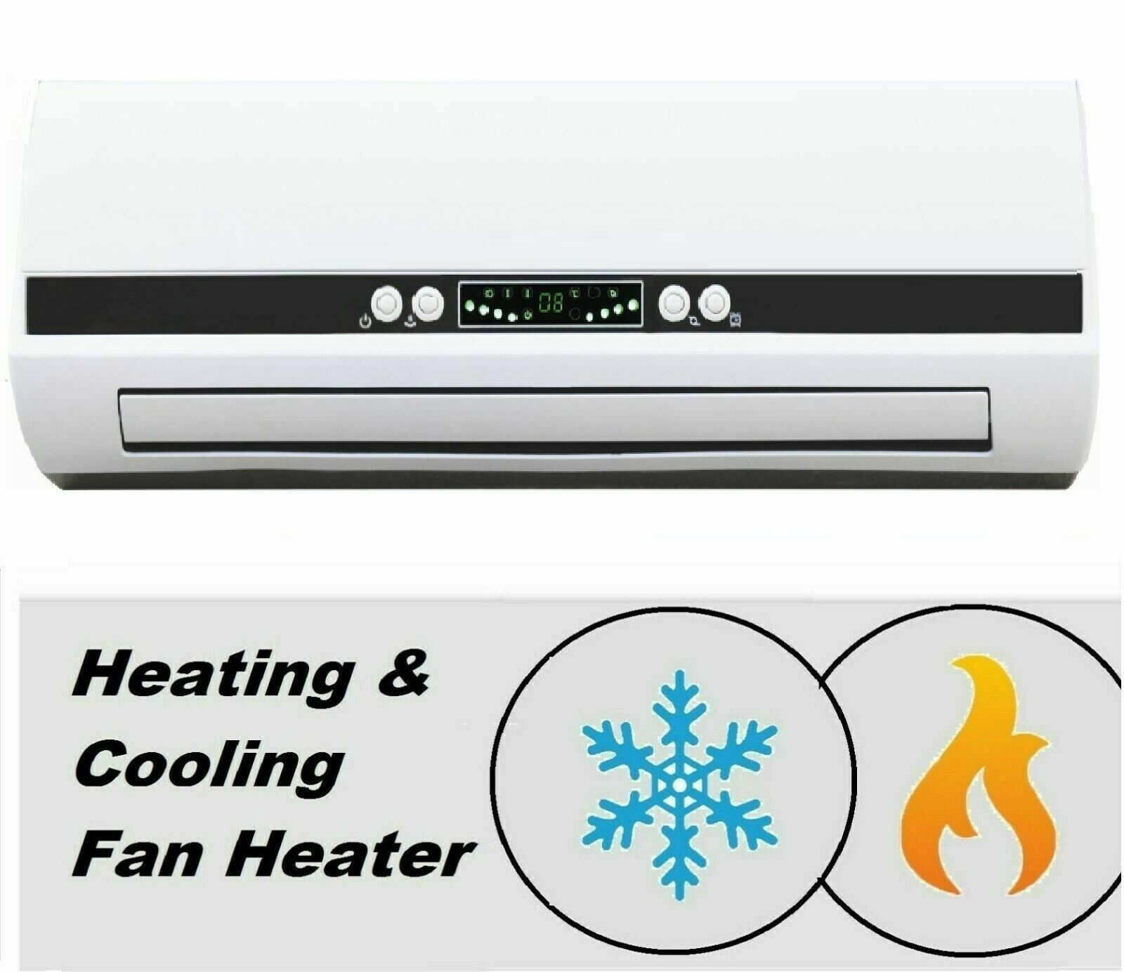 Wall Fan Heater 7 Day Timer Ptc Bathroom Workshop Electric Wall Mounted Remote throughout size 1600 X 1384